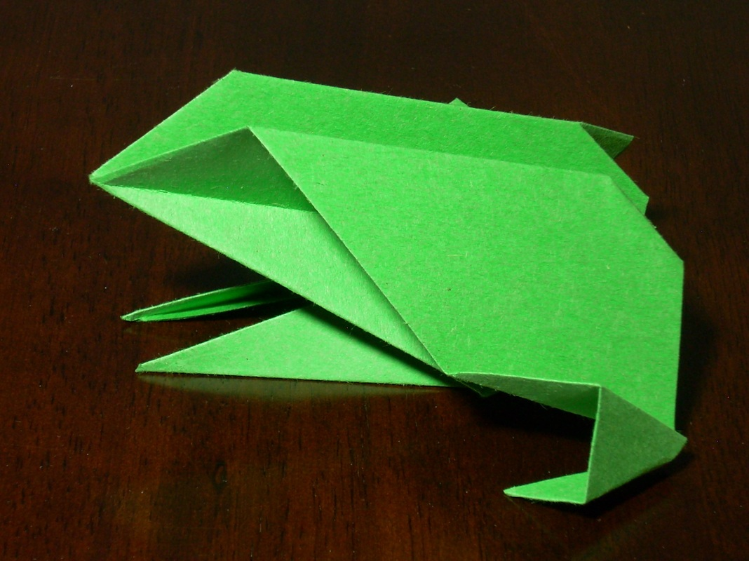 Frog Printable Origami Instructions